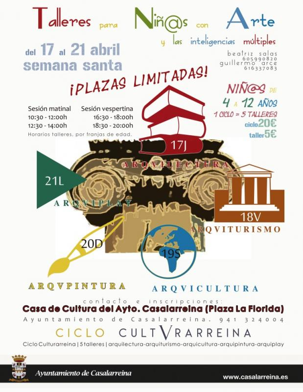 Talleres para niñ@s en Casalarreina para Semana Santa 2014