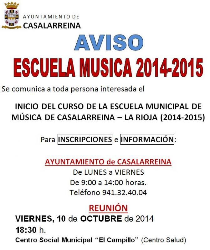Escuela de Música de Casalarreina 2014-2015