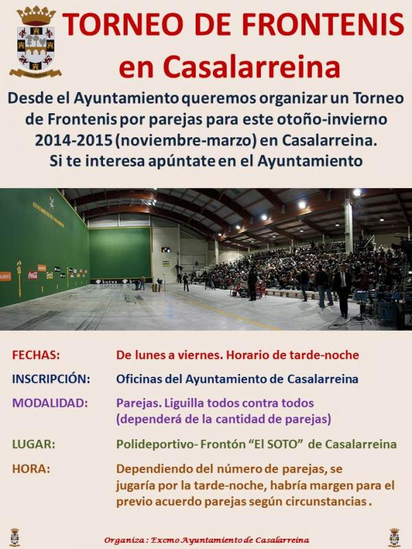 Torneo de Frontenis otoño-invierno 2014-2015