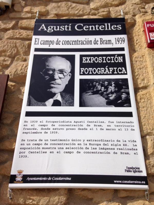 """""""El campo de concetración de Bram"""" Exposición de Fotografía de Agustín Centelles en Casalarreina"""