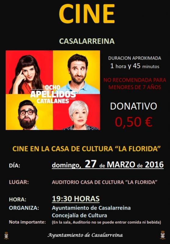 "SEMANA SANTA 2016. CINE ""8 APELLIDOS CATALANES"""