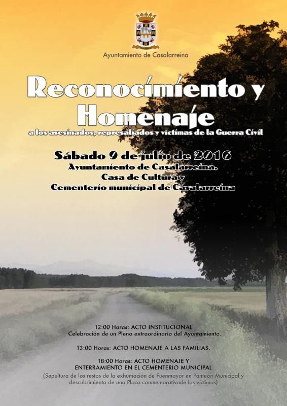 Reconocimiento y Homenaje a los asesinados Guerra Civil en Casalarreina