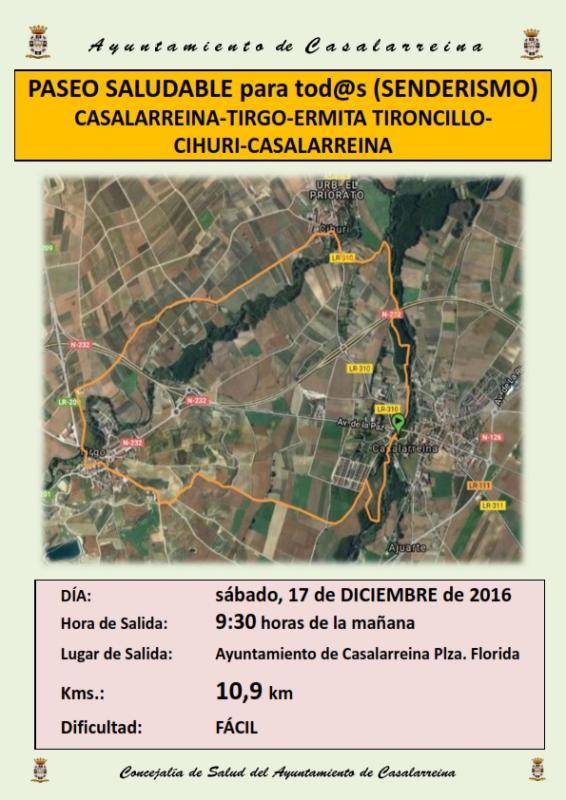 Paseo Saludable, Sábado 17 de diciembre de 2016