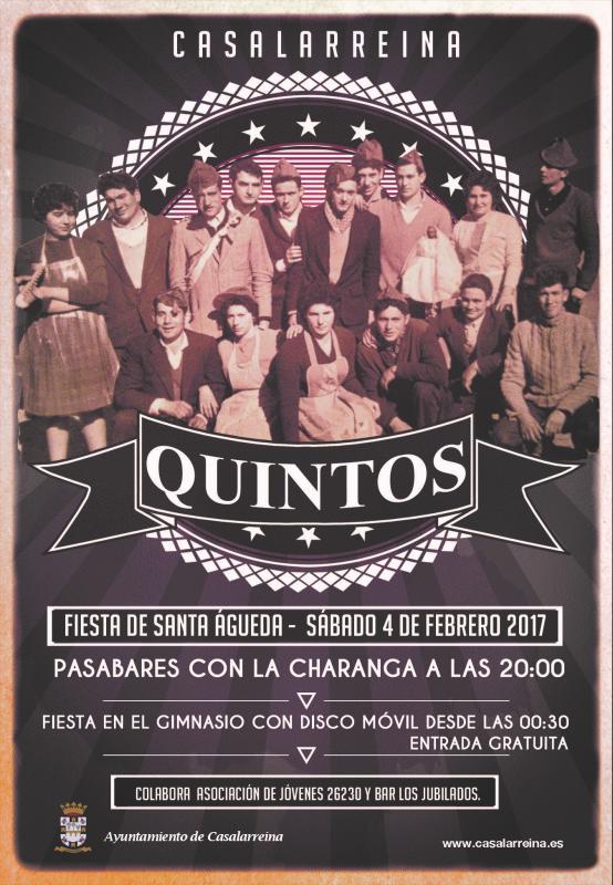 """Fiesta de los Quintos 2017 """"Santa Águeda"""""""