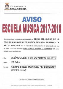 Inicio del curso Escuela Municipal de Música