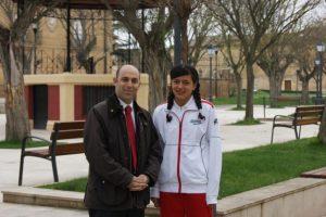 La atleta, Natalia Rendón, compite en Asturias