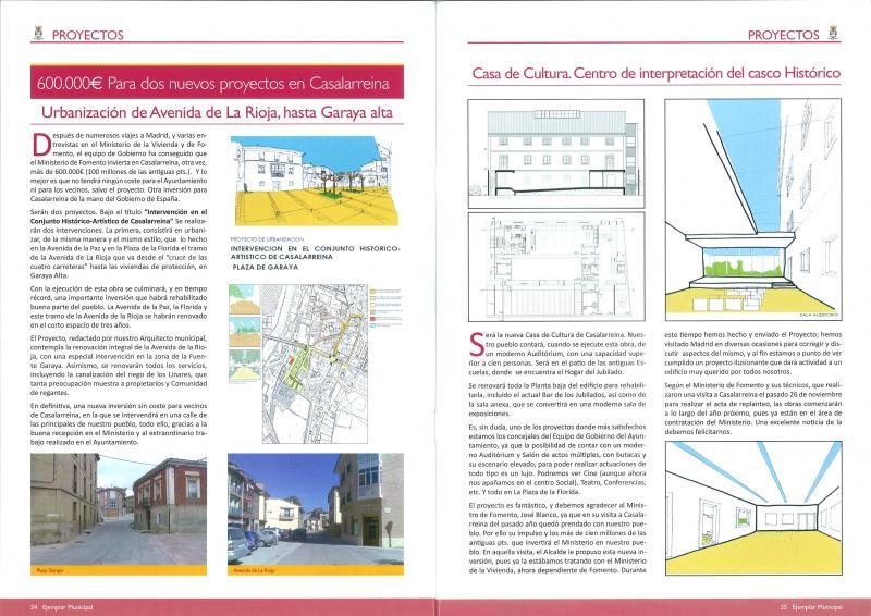 El Ministerio de Fomento licita la nueva Casa de Cultura y la Rehabilitación de la Plaza de Garaya