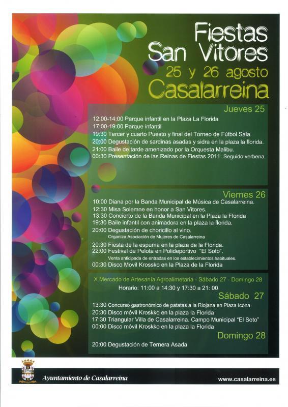 Programa Oficial de las Fiestas de San Vitores 2011