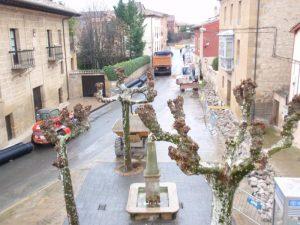 Obras en Avenida de La Rioja y Garaya