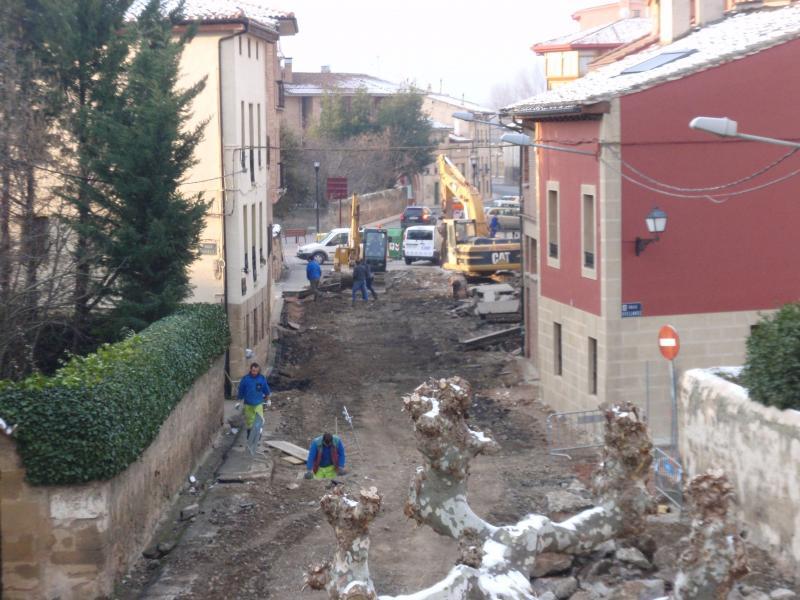 Las obras en la Avenida de La Rioja y Garaya avanzan