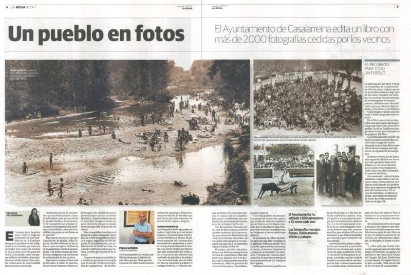 Reportaje del Libro de Fotos en La Rioja