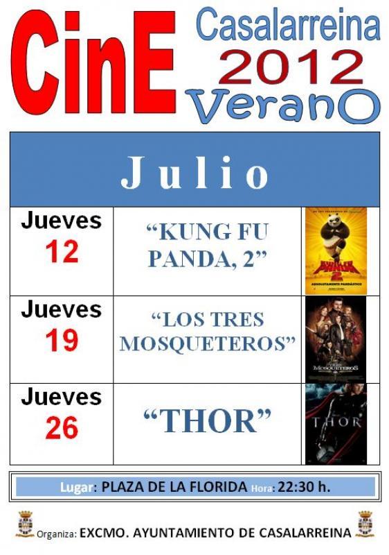Cine de Verano 2012 en Casalarreina (Julio)