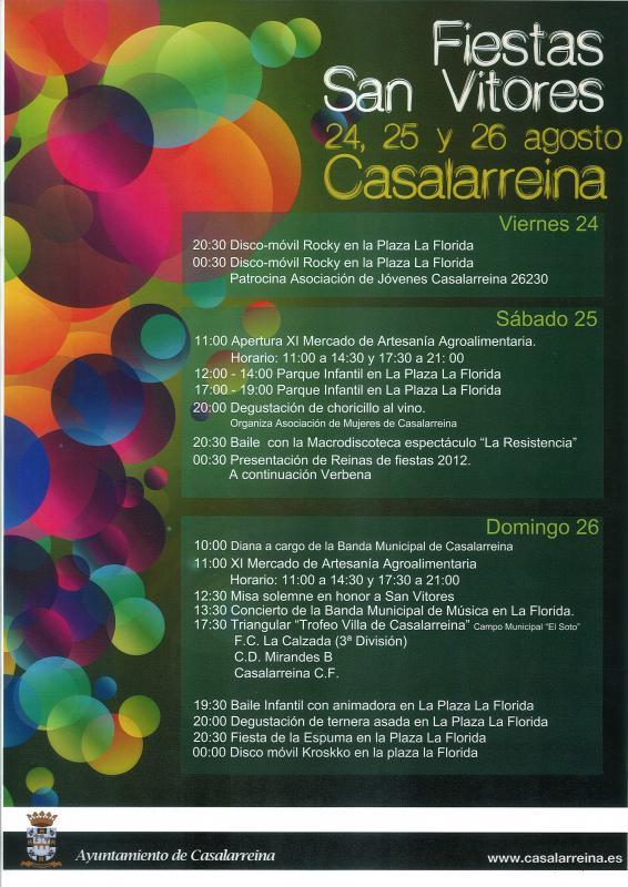 Fiestas de San Vitores 2012