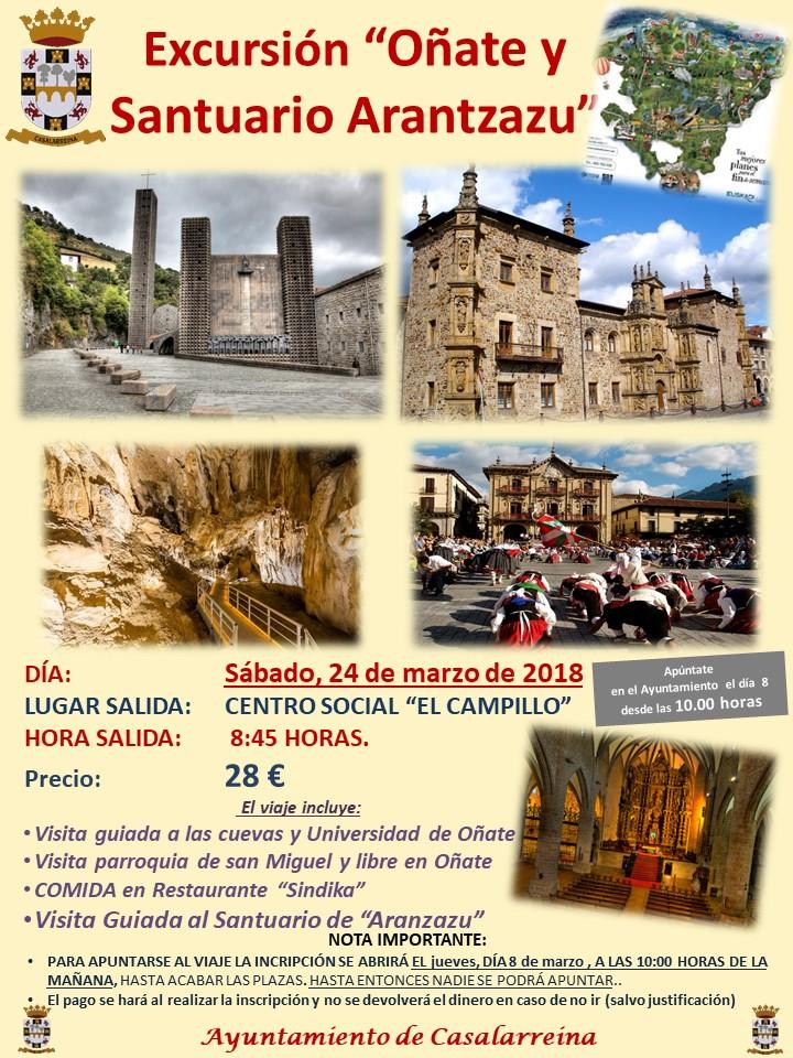 Excursión a Oñate y Santuario de Arantzazu