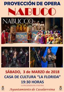 ÓPERA. Proyección de Ópera en Casalarreina