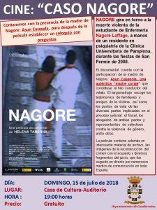 """Cine, """"Caso Nagore"""" domingo, 15 de julio en Casalarreina"""