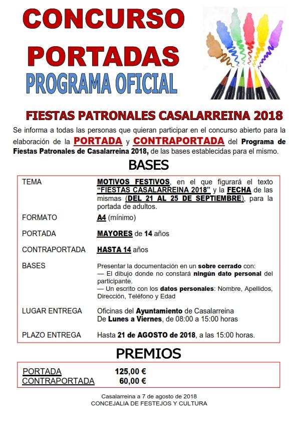 Concurso de Portadas para el Programa de Fiestas de Casalarreina 2018