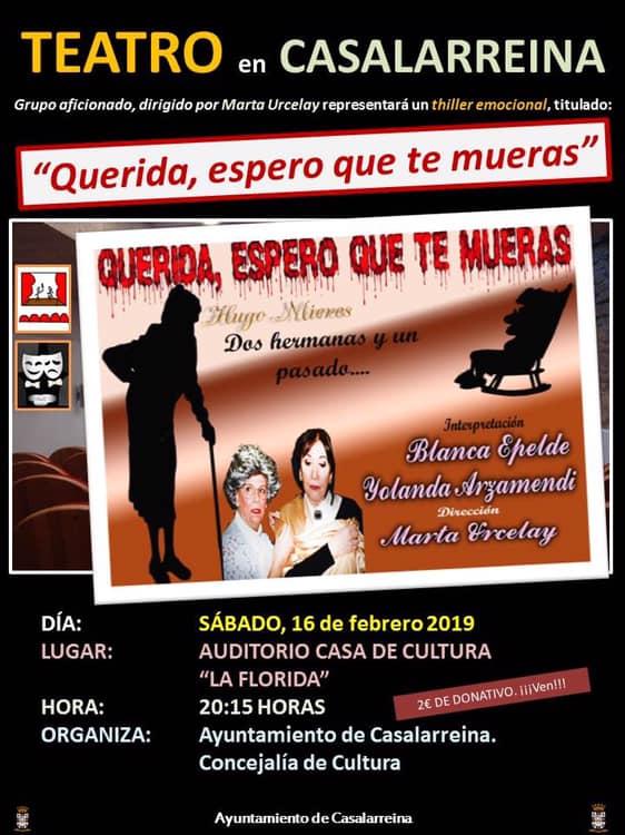 Teatro en Casalarreina: sábado 16 de febrero de 2019