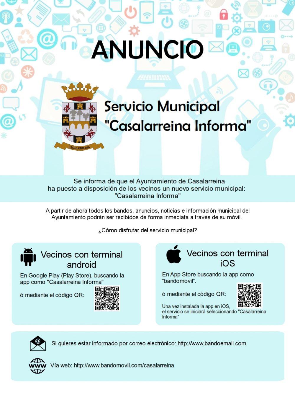 Nuevo servicio Casalarreina Informa