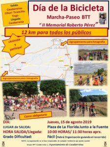 Día de la Bicicleta 2019. II Memorial Roberto Pérez