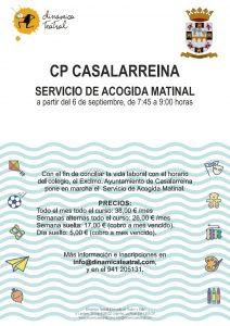"""Programa """"Madrugadores"""" en el Colegio Público de Casalarreina"""