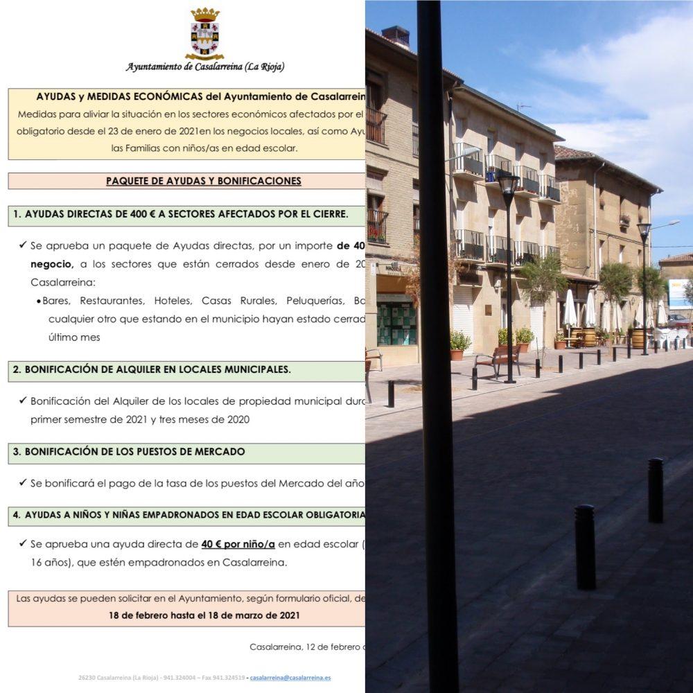 Ayudas y Medidas Económicas a los negocios afectados por el cierre de COVID en Casalarreina